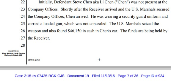From a filing by the receiver in the Steve Chen/USFIA case.