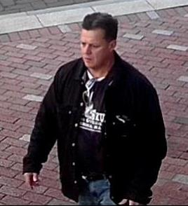 "This ""person of interest"" dropped a suspicious package near a Department of Homeland Security vehicle in downtown Boston this morning. Source: Boston Police Department."