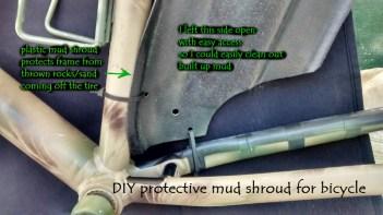 inside mud shroud with description