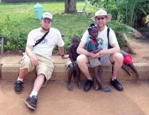 Nate and Patrick in Uganda