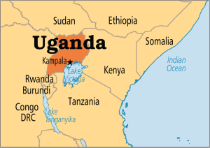 Uganda location in Africa