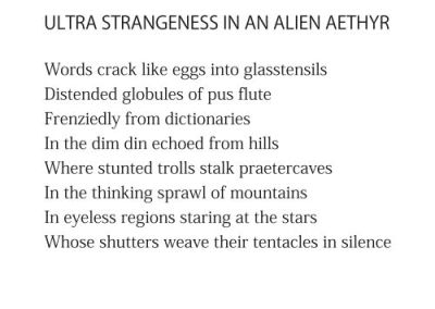 Ultra Strangeness in an Alien Aethyr