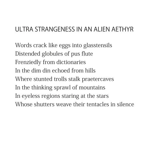 Ultra Strangeness in an Alien Aethyr by Patrick Stack
