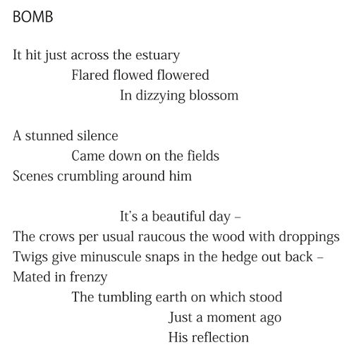 Bomb (extract) by Patrick Stack