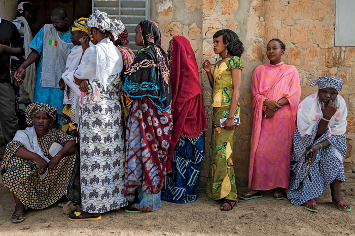Malians wait to cast their ballots during the second round of the 2013 presidential election in Timbuktu, Mali.   Photo: Marco Di Lauro/Reportage by Getty Images