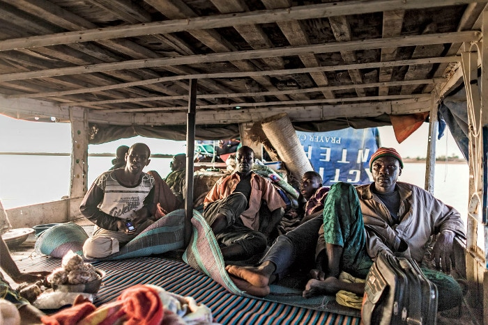 Malian boat passengers on their way from Mopti to Timbuktu.   Photo: Marco Di Lauro/Reportage by Getty Images