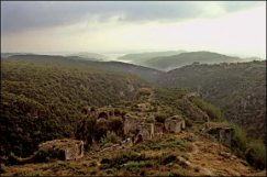 The fortress of Qalat Saladin, in the highlands above Latakia. Photo:Seamus Murphy