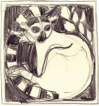 Maki 15x15cm charcoal on paper ©2004