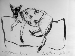 Domestic cat (sold) - charcoal on paper 105x150cm ©2013