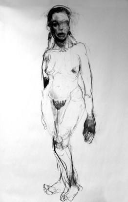 Woman 190x110 charcoal on paper ©2012