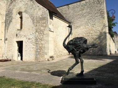 Life size Ostrich at Compiègne exhibition