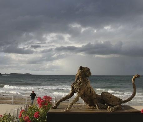 Life size Cheetah - Dinard beach Summer 2015
