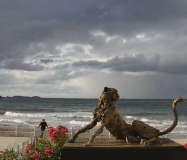 Cheetah 110x65cm at the beach in Dinard (F) ©2014