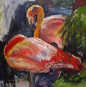 Flamingos 100x100cm oil on canvas ©2004