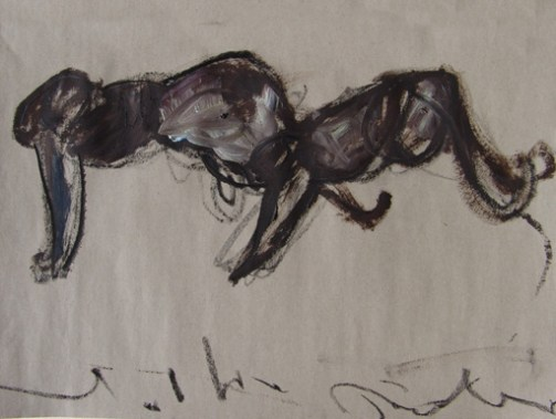 Panther 65x45cm mixed media on paper ©2003