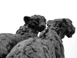 Cheetah male and female originals in wax studio ©2012