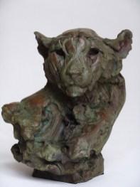 Head of a Cheetah III 34 x 29 x 34 cm bronze