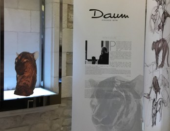 Presentation Head of a Panther for Daum at the Paris Design Week