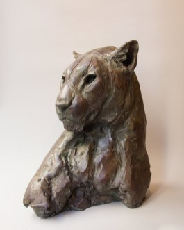 Female Panther head III 40x22x29cm 1/8 ©2018