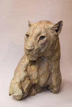 Female Panther head III 40x22x29cm 1/8 ©2018