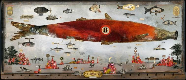 Bruno Mallart - La revanche du poisson rouge - original Diasec 1/8 56x130cm ©2016