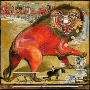 Bruno Mallart - Lion Rouge - original Diasec 1/8 79x79cm ©2017