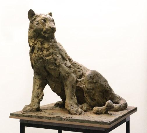 Panther sitting - 70x70x70cm - 1/8 - 2020