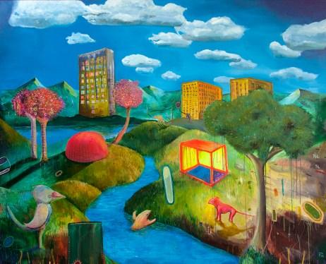 o mundo (a noite de mais) 170 x 130 cm, oil, canvas, patrikmuchenberger.com