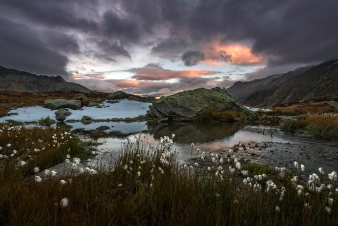 Sonnenaufgang Grimselpass