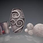 Trio of Rings in metal clay by Patrik Kusek