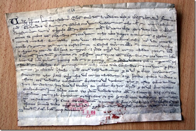 Charte du XIIIe siècle
