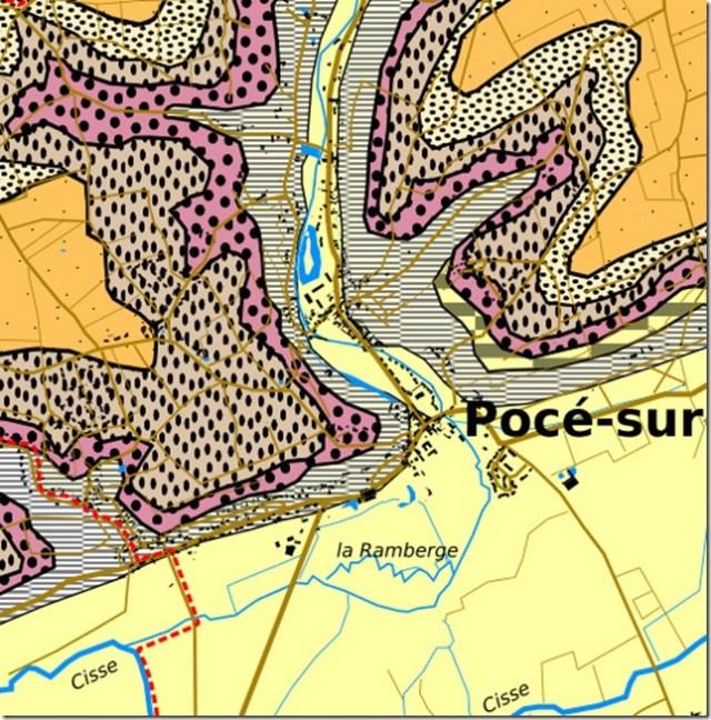 Géologie de Pocé-sur-Cisse