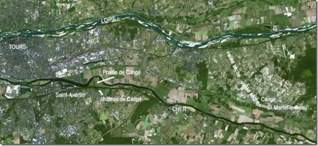 L'angle de Cangé à Saint-Martin-le-Beau (Indre-et-Loire)
