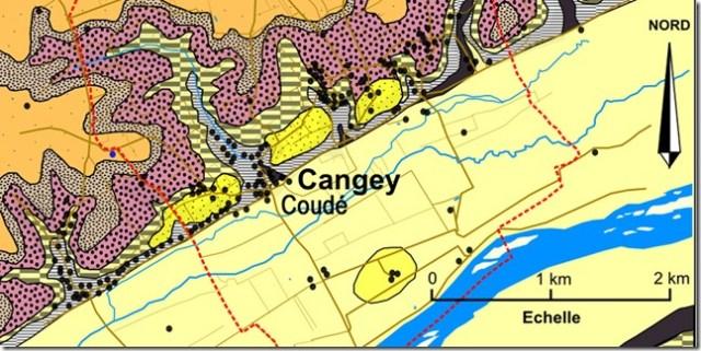 Géologie de Cangey (Indre-et-Loire)