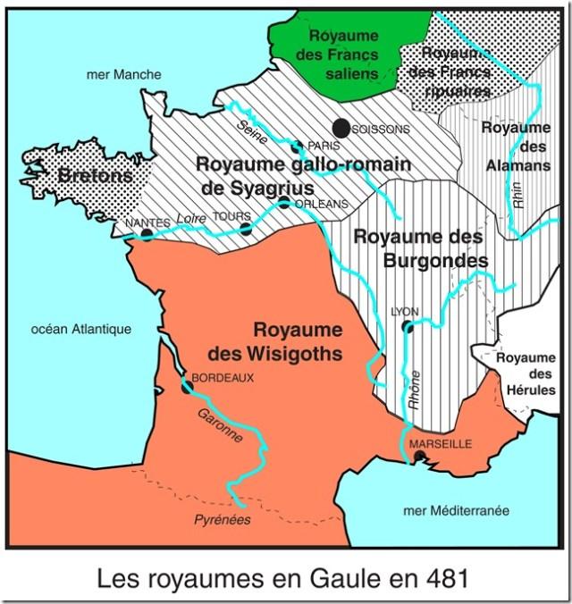 La Gaule vers 481