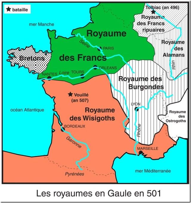 La Gaule vers 501