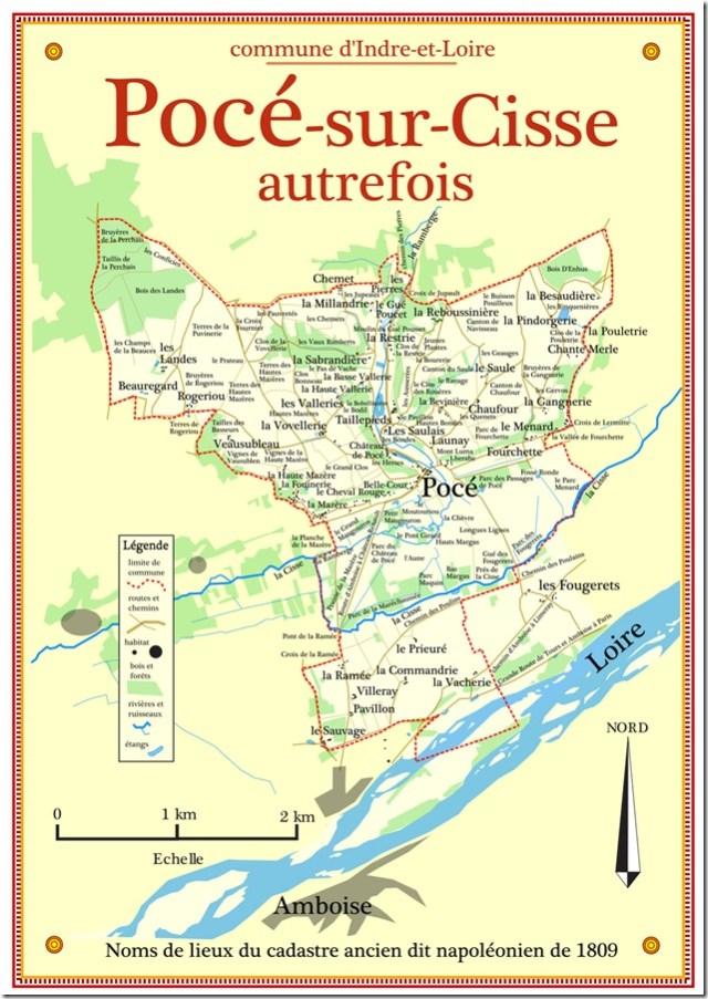 Cartographie des anciens noms de lieux de Pocé-sur-Cisse (37)