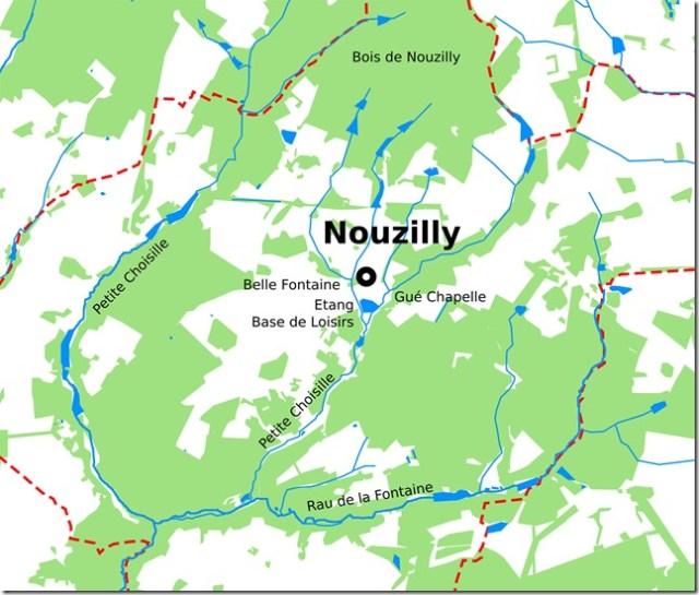 Zoom sur Nouzilly et son environnement hydrographique