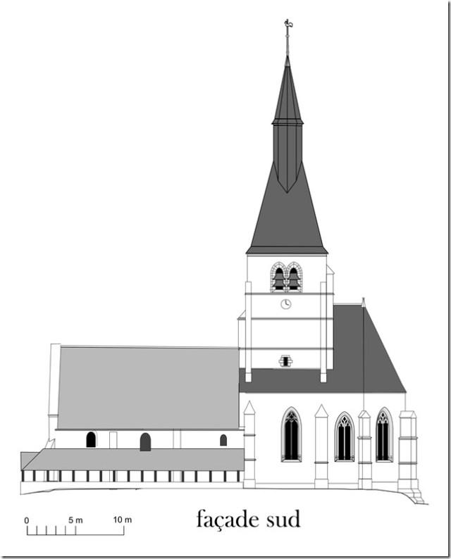Plan Nicolas Huron - Eglise de Pierrefitte-sur-Sauldre - XVIe siècle