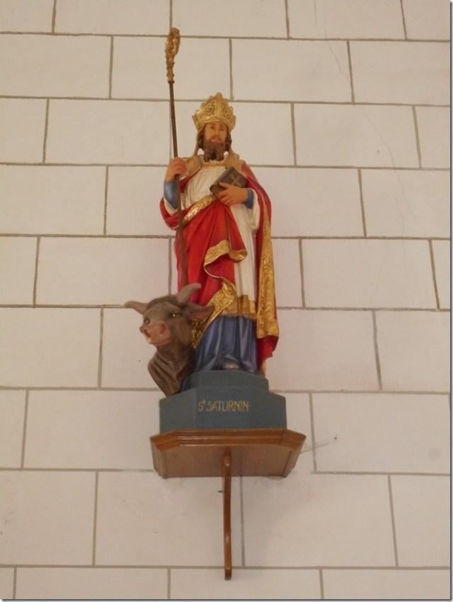 Saint-Saturnin, évêque de Toulouse - église de Pouillé (Loir-et-Cher)