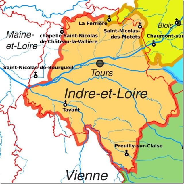 Les églises Saint-Nicolas en Indre-et-Loire (37)