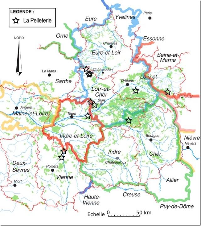 Les toponymes La Pelleterie en Région Centre ou aux environs