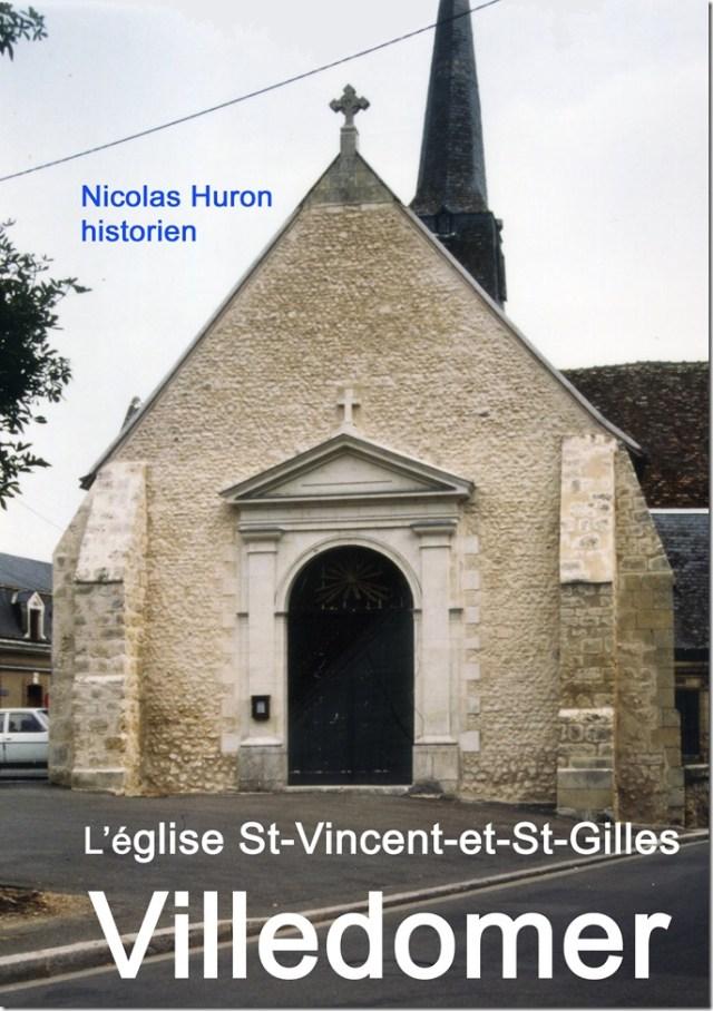 Couverture de l'ouvrage sur l'église Saint-Vincent-et-Saint-Gilles de Villedômer (37)