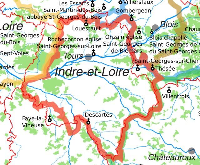 Les églises Saint-Georges en Indre-et-Loire