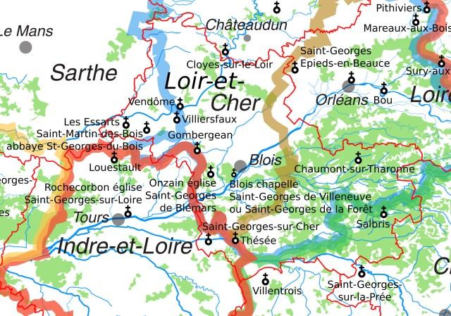 Les églises Saint-Georges en Loir-et-Cher