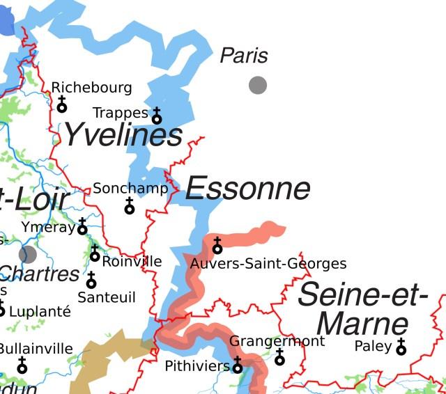 Les églises Saint-Georges proche de la Région Centre en Seine-et-Marne, dans les Yvelines et dans l'Essonne