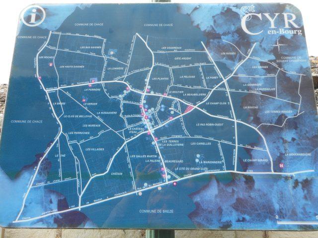 Photo du plan du bourg