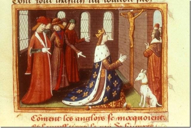 Enluminure de Martial d'Auvergne tirée des Vigiles de la mort de Charles VII
