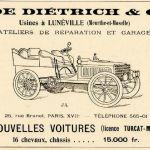 """pub-1902-LD-150x150 De la rencontre avec Turcat-Méry à """"Lorraine Dietrich"""" Historique 4"""