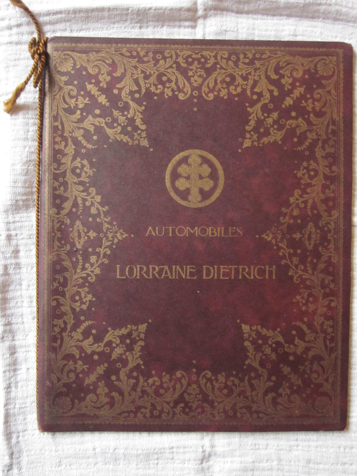 catalogue lorraine dietrich de 1909